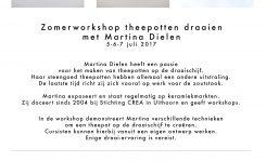 Zomerworkshop Theepotten Draaien