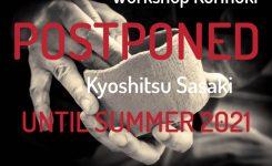 Kurinuki Workshop in Amsterdam with Yamato Kyoshitsu Sasaki postponed until summer 2021